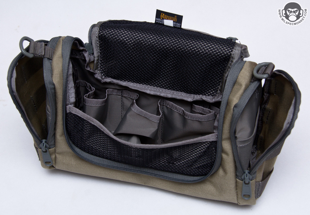 7ab39dd19843 Commonly toiletry bags are budget style made so it is nice to see this heavy  duty one from Maxpedition. Now I ll admit the name is somewhat amusing as  ...